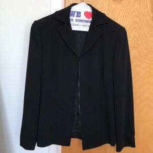 Ann Taylor petite suit jacket zip up